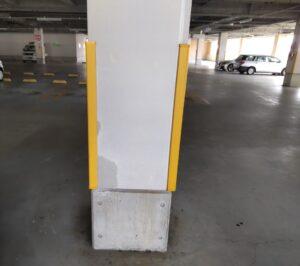 店舗駐車場柱補修工事